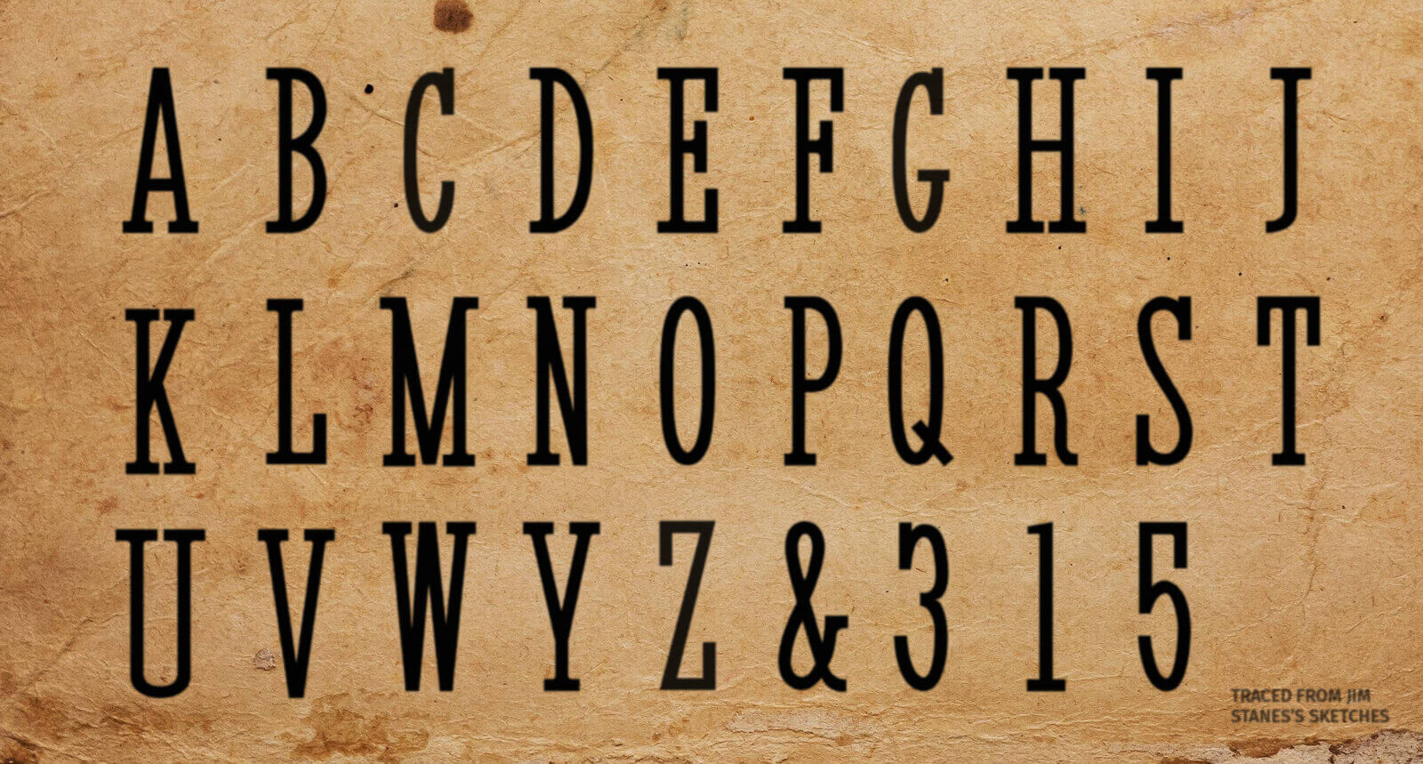 The Alienist - Custom typeface for the show